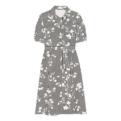 Kieran Printed Silk Crepe De Chine Shirt Dress