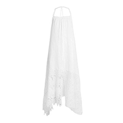Elena Lace-Trimmed Maxi Dress