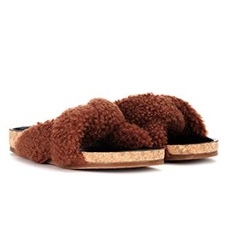 Wool Slip-On Sandals