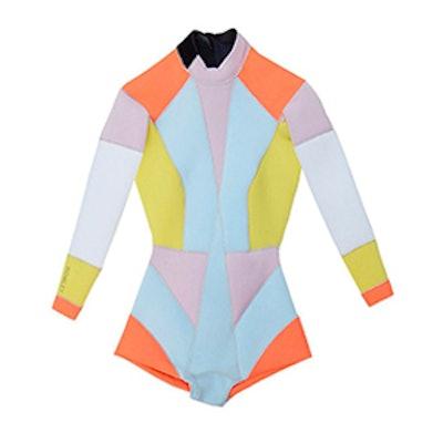 Peach Combo Colorblock Wetsuit