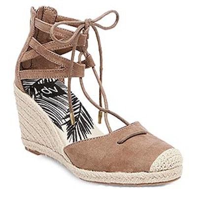 Manica Ghillie Espadrille Wedge Sandals