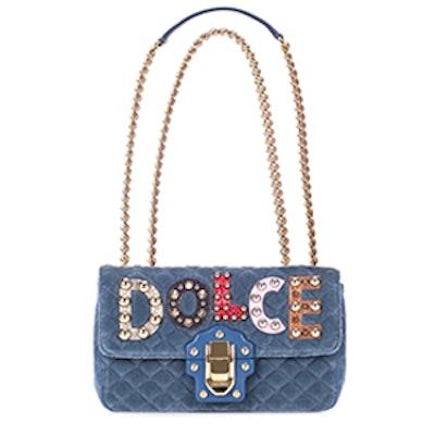 Lucia Velvet Shoulder Bag