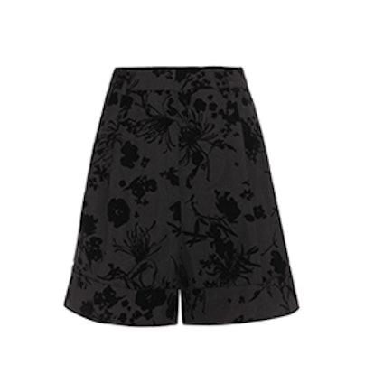 Devoré Cotton-Blend Shorts