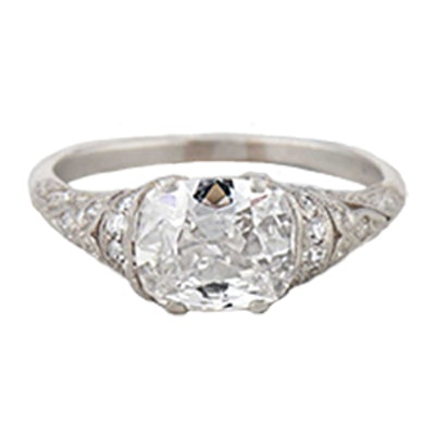 1.53 Carat Edwardian Diamond Engagement Ring