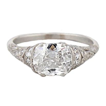 1.53 Carat Edwardian Diamond Engagement Ring