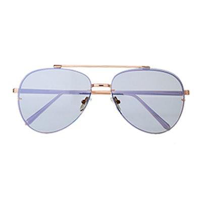 Semi-Transparent Rimless Aviator Sunglasses