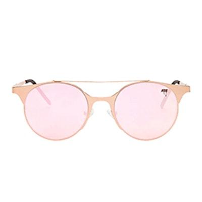 Melt Flat Round Sunglasses