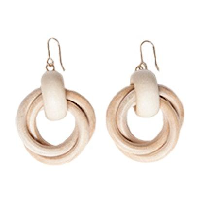 Wooden Doorknocker Earrings