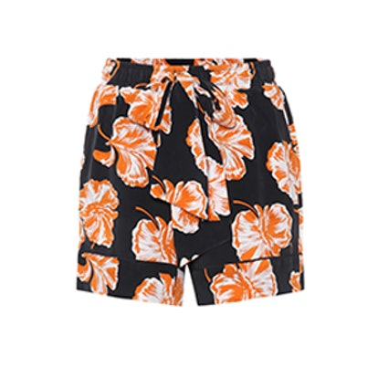 Geroux Floral-Printed Silk Shorts