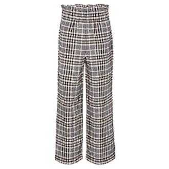 Charron Wide-Leg Seersucker Trousers