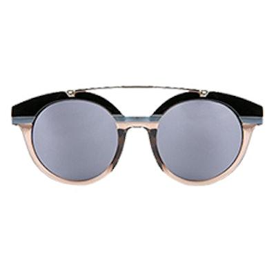 Round Mirrored Oversized Sunglasses