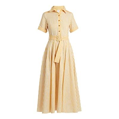 Striped Cotton And Linen-Blend Shirtdress