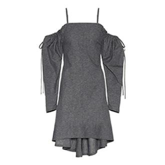 Off-The-Shoulder Cotton Dress