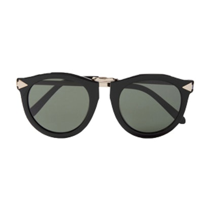 Harvest Round-Frame Acetate and Silver-Tone Sunglasses