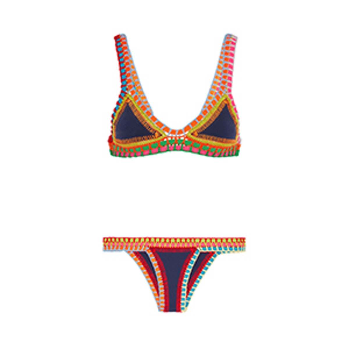 Tasmin Crochet Trimmed Bikini Set