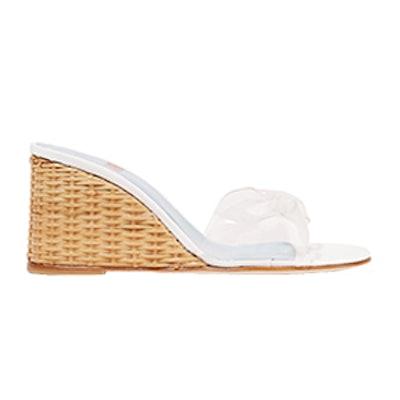 Wicker Wedge PVC Sandal