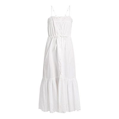 Cute Square-Neck Cotton Midi Dress