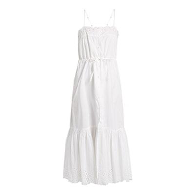 Cute Square-Neck Cotton Midi Dress