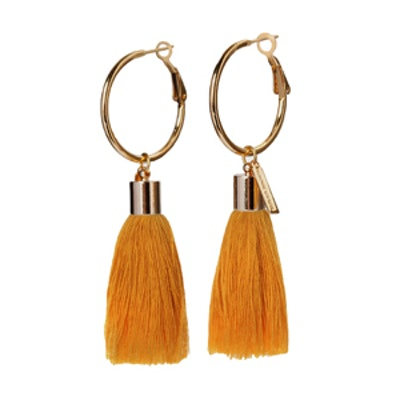 Lily Tassel Hoop Earrings