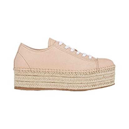 Leather Platform Espadrille Sneakers