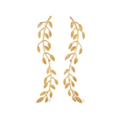 Sania Leaf Drop Earrings