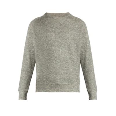 Raglan-Sleeve Cashmere-Blend Sweatshirt