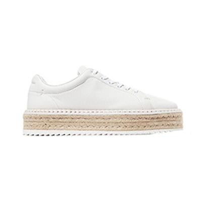 Kent Leather Espadrille Platform Sneakers