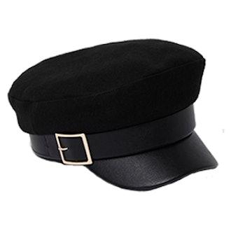 Gold Buckle Baker Boy Hat