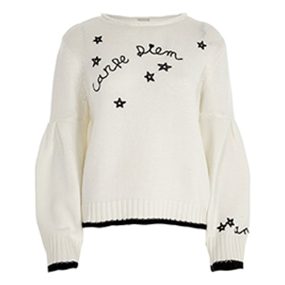 Carpe Diem Balloon Sleeve Sweater