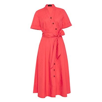 Asymmetric Cotton Shirt Dress