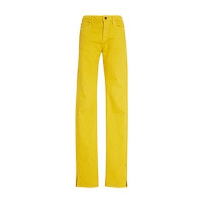 Split Hem Straight-Leg Jean