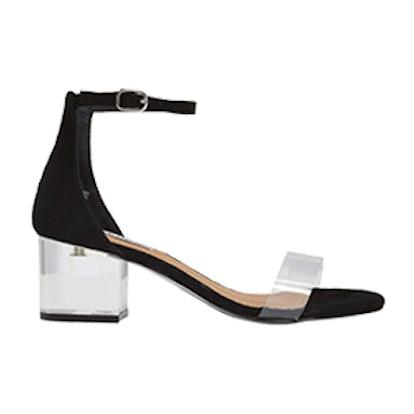 Inspired Clear Heel Sandal