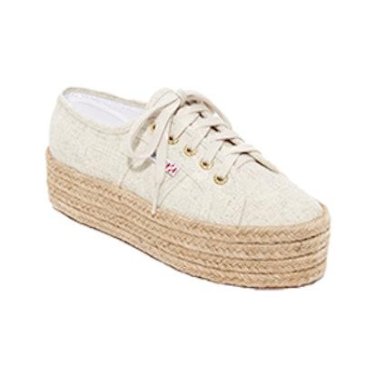 2790 Linen Platform Espadrille Sneakers