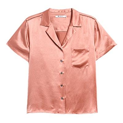 S/S Button Thru Collared Shirt In Fig