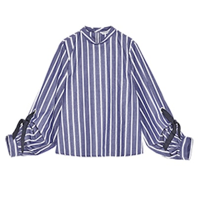 Striped Shirt With Bows