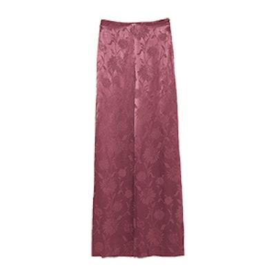 Shiny Jacquard Trousers
