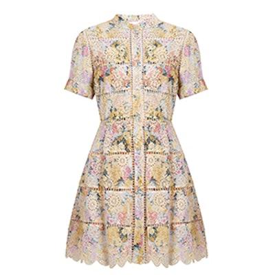 Valour Hydrangea-Print Cotton Dress