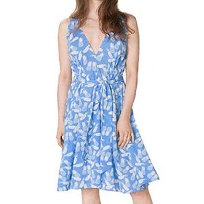 Pineapple Print V-neck Dress