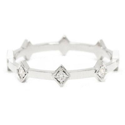 Illuminate Ring 18K White Gold And Diamonds
