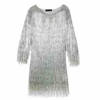 Ballina Metallic Fringe Dress