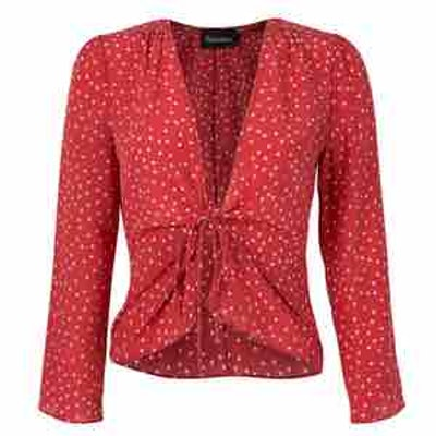 Bianca Red Star Long Sleeve Top
