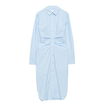 Draped Shirt Dress