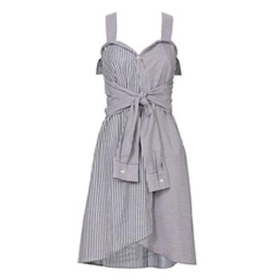 Striped Tie-Front Mini Dress