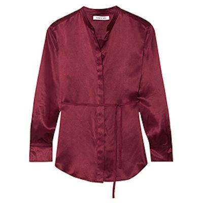 Wiley Silk-Satin Shirt