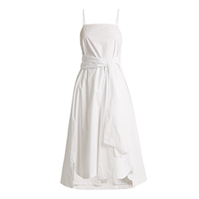 Oak Tie-Front Cotton Dress