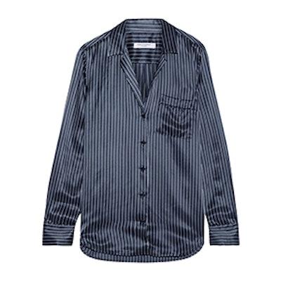 Keira Striped Silk-Satin Shirt