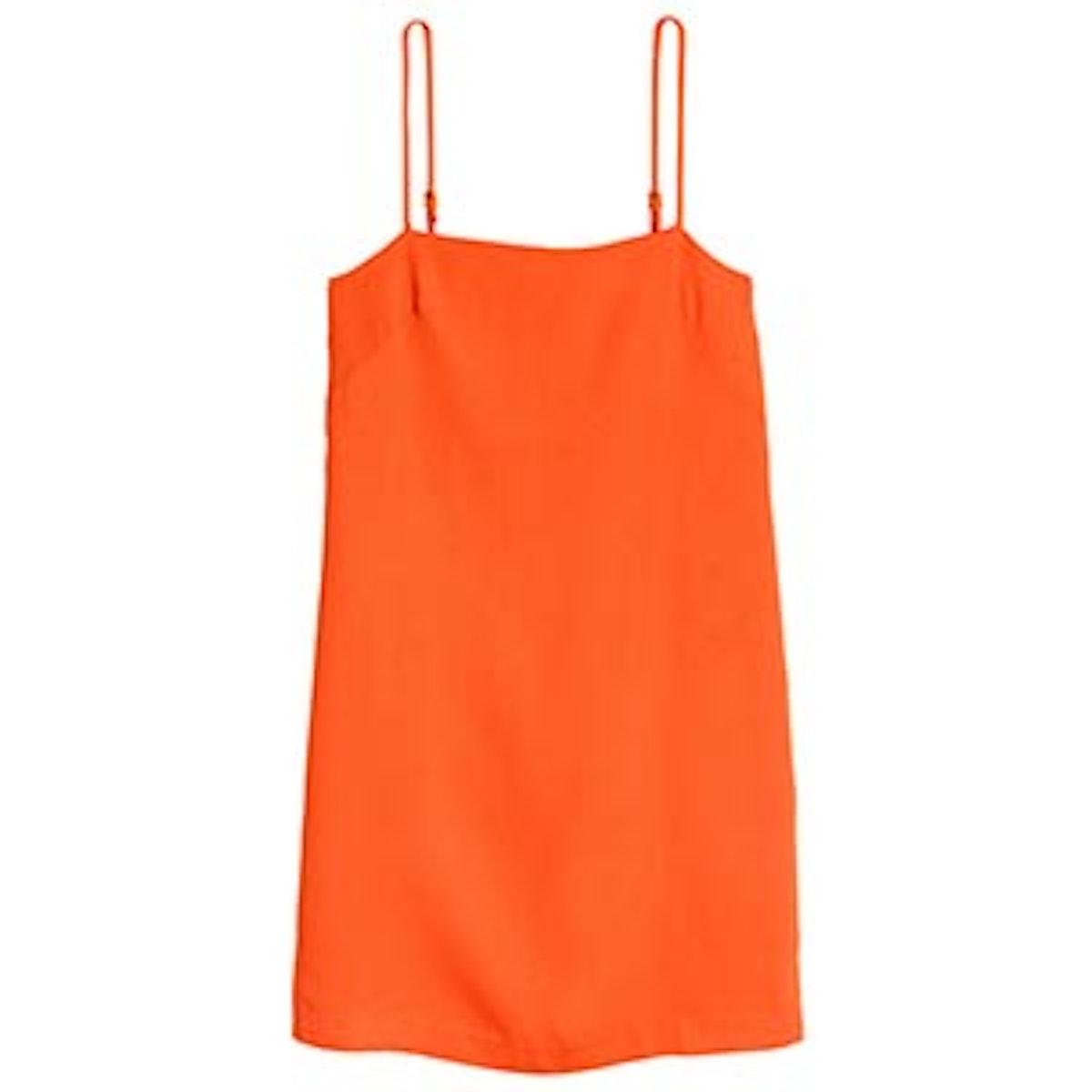 Orange Creped Dress