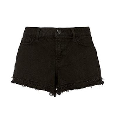 Sachi Frayed Black Shorts