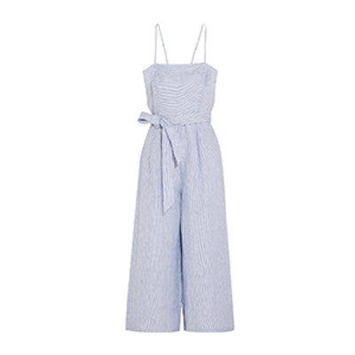 Marseille Pinstriped Linen Jumpsuit