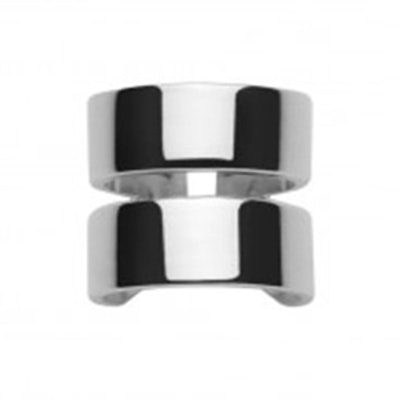 Double Flat Band Pinky Ring